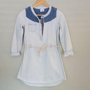 Hanna Andersson Long Sleeve Denim Dress Size 140